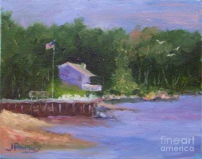 Wall Art - Painting - Nestled On The Beach by Judy Parins