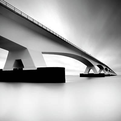 Zeeland Photograph - Netherlands, Zeeland, Zeelandbridge by Kees Smans
