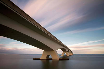 Zeeland Photograph - Netherlands, Zeeland, Zeelandbrug by Kees Smans