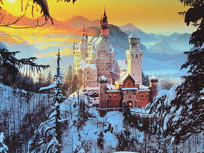 Neuswanstein Winter Art Print