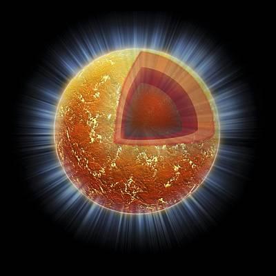 Neutron Star Structure, Artwork Art Print