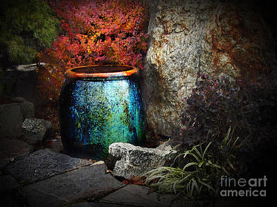 Digital Art - Nevada City Fountain by Lisa Redfern