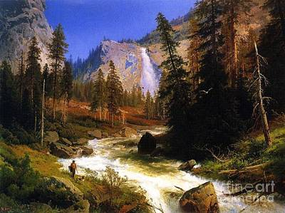 Yosemite Painting - Nevada Falls Yosemite  by Pg Reproductions