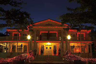 Photograph - Nevada Governors Haunted Halloween Mansion by John Stephens
