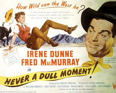 Posth Photograph - Never A Dull Moment, Irene Dunne, Fred by Everett