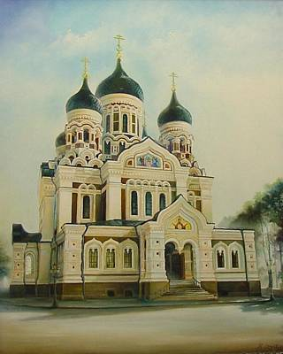 Architectur Painting - Nevsky Catedral by Ahto Laadoga