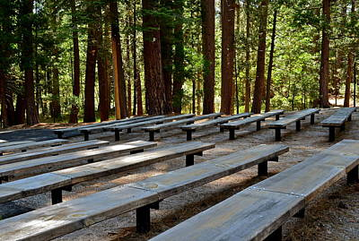Photograph - New Amphitheater Benches by Kirsten Giving