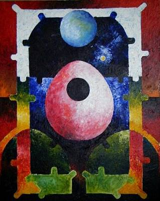 Loganville Painting - New Earth Incubation 2 by Harold Bascom