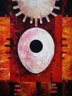 Art By Harold Bascom Painting - New Earth Incubation I by Harold Bascom