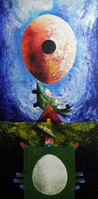 Loganville Painting - New Earth Incubtion Four by Harold Bascom