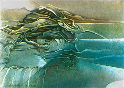 Drawing - New Earth3 1992 by Glenn Bautista