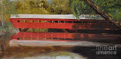Photograph - New England Covered Bridge by John Black