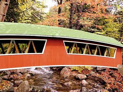 New England Covered Bridge Art Print by Tony Craddock