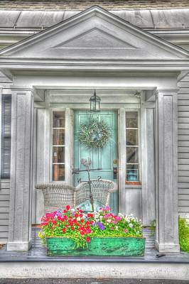 New England Doorway Art Print by Lisa Goddard