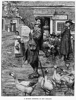 Quaker Photograph - New England: Quaker, 1660 by Granger