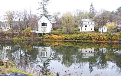 Photograph - New England Reflections 3935 by Charles  Ridgway
