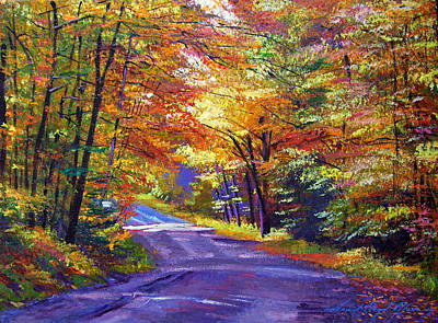 Autumn Scenic Painting - New England Roads by David Lloyd Glover
