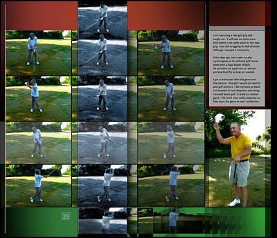 Digital Art - New Golf Grip P29 by Glenn Bautista
