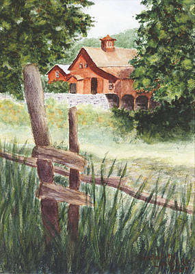 Stonewall Painting - New Hampshire Farm by Meredith Landry