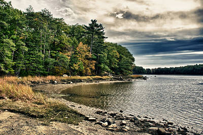 Photograph - New Hampshire Waterway by Edward Myers