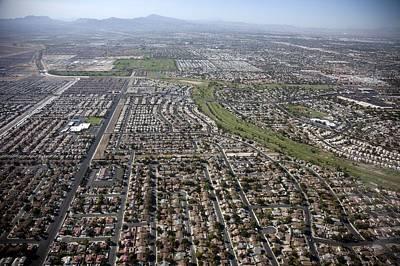 New Homes In Las Vegas Nevada Built Art Print by Everett