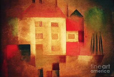 Painting - New House In The Suburbs by Pg Reproductions