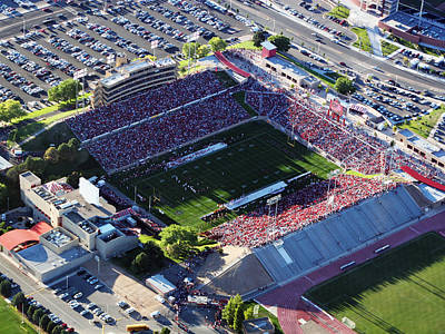 New Mexico Aerial View Of University Stadium Art Print