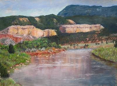 Chama River Painting - New Mexico Colors by Stana Stoker