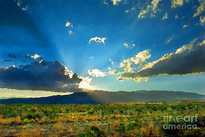 New Mexico Desert Art Print by Betty LaRue
