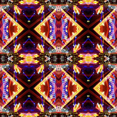 Abstract Realism Digital Art - New Mexico Neon by Glennis Siverson