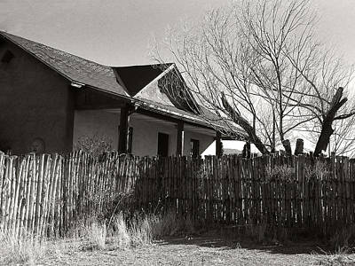 Photograph - New Mexico Series - Fenced In House by Kathleen Grace