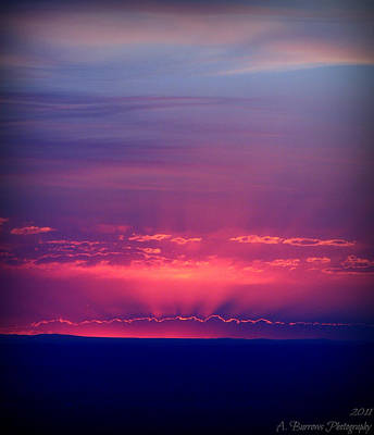 New Mexico Sky Colors Art Print by Aaron Burrows