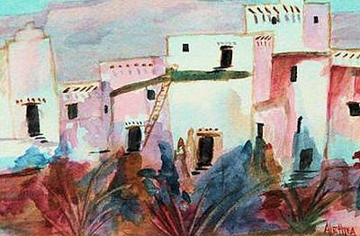 Painting - New Mexico Sunset by Alethea McKee