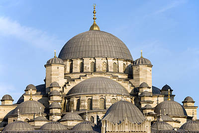 New Mosque In Istanbul Print by Artur Bogacki