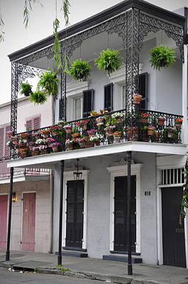 Photograph - New Orleans Balcony by Helen Haw