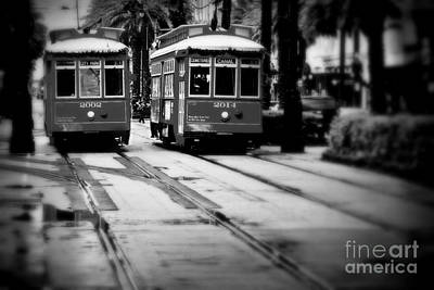 New Orleans Classic Streetcars. Art Print by Perry Webster