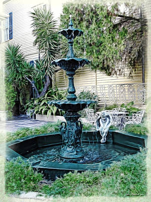 Photograph - New Orleans Fountain by Joan  Minchak