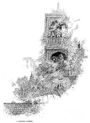 New Orleans: Garden Art Print by Granger