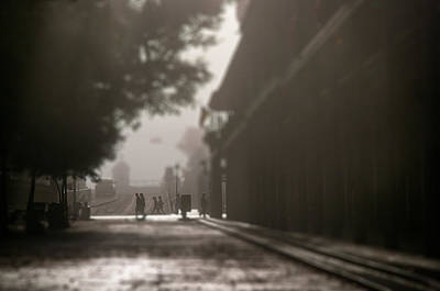 Sillouette Photograph - New Orleans Morning Fog by Beth Riser