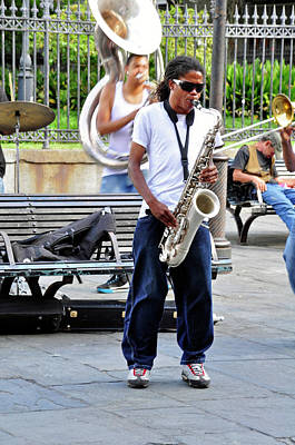 Photograph - New Orlean's Musician by Helen Haw