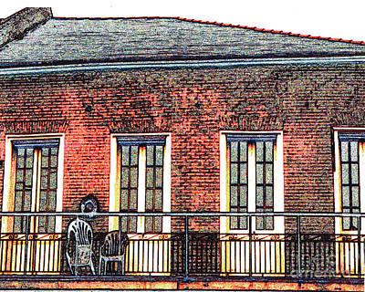 New Orleans Plantation House Art Print by Merton Allen