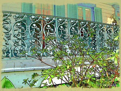 Photograph - New Orleans Porch Railing by Joan  Minchak