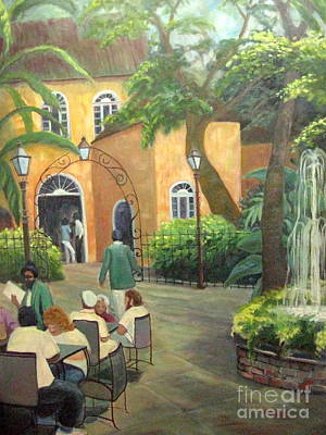 Pat O Briens Painting - New Orlean's Restaurant by Gretchen Allen