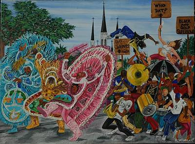 ''new Orleans Secondline'' Art Print by Mccormick  Arts