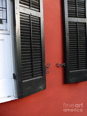 Art Print featuring the photograph New Orleans Shutters by Jeanne  Woods