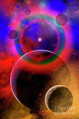 New Planets And Solar Systems Forming Art Print by Mark Stevenson