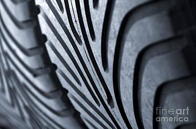 New Racing Tires Art Print by Carlos Caetano