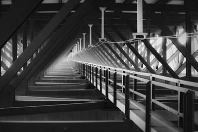 New River Gorge Bridge Photograph - New River Gorge Bridge Catwalk by Teresa Mucha
