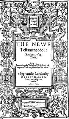 New Testament, 1602 Art Print by Granger