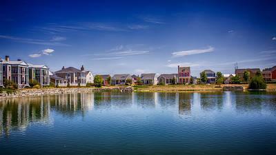 Saint Charles Digital Art - New Town On The Lake by Bill Tiepelman